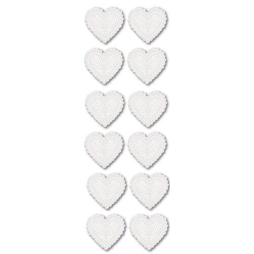 White Dimensional Heart Stickers_M921109