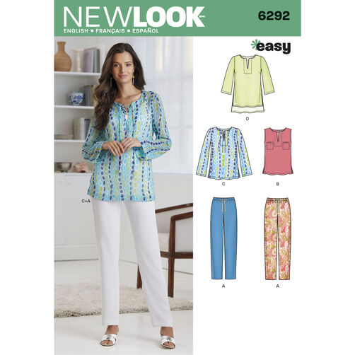 Misses' Tunic or Top and Pull-on Pants
