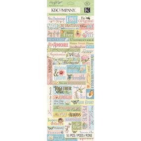Susan Winget Floral Word Embossed Stickers_30-663367