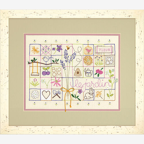 Le Jardin Sampler in Embroidery_71-01545