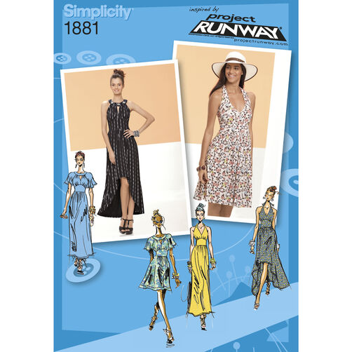 Simplicity Pattern 1881 Misses' Dresses Project Runway Collection