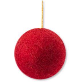 Wool Felt Red Ball Ornament_72-08223