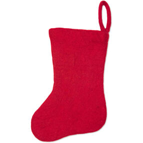 Red Wool Felt Stocking_72-08225