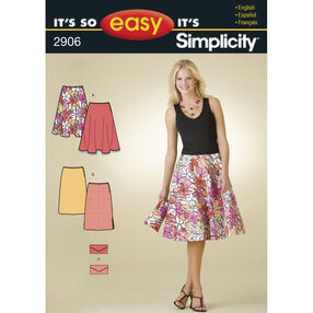 It's So Easy Pattern 2906 Misses Skirts and Purse