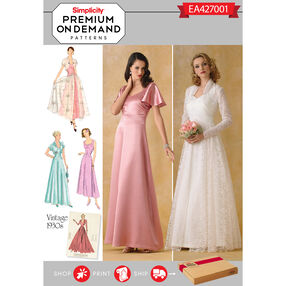 Simplicity Pattern EA427001 Premium Print on Demand Dress and Jacket