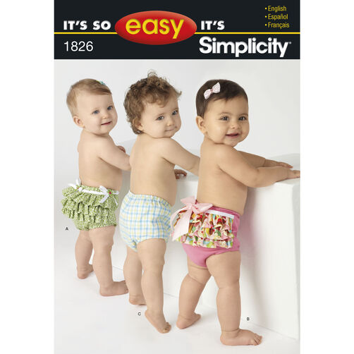 It's So Easy Pattern 1826 Babies' Diaper Covers
