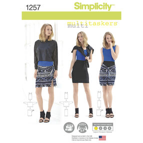 Simplicity Pattern 1257 Misses' Easy Knit Pieces. Multitaskers Collection.