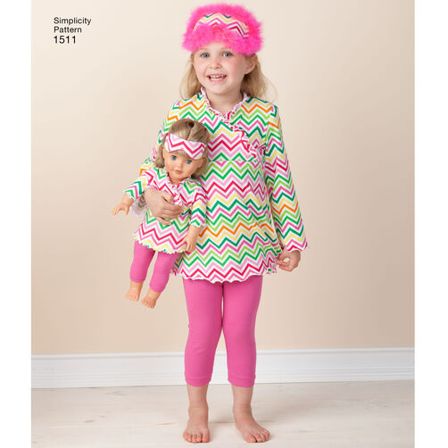 Pattern For Child And 18 Quot Doll Matching Loungewear