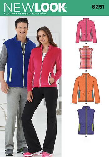 Misses' and Men's Jacket or Vest