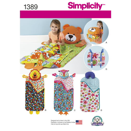 Simplicity Pattern 1389 Child's Nap Pack