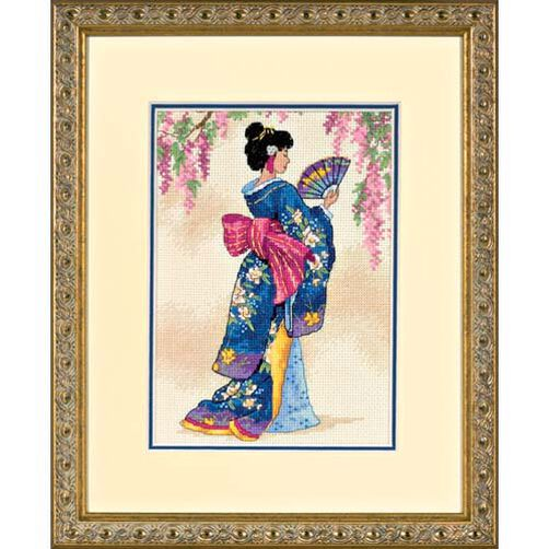 Elegant Geisha, Counted Cross Stitch_06953
