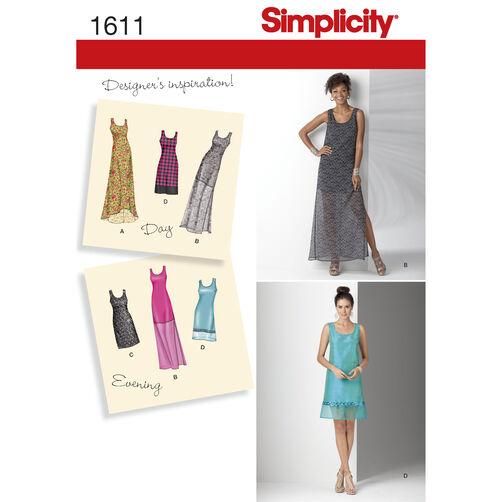 Simplicity Pattern 1611 Misses' & Miss Petite Dresses