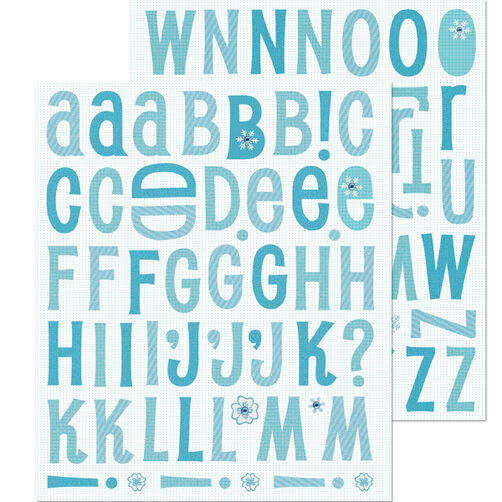 Winter Alphabet Die-cut Sticker_30-587021