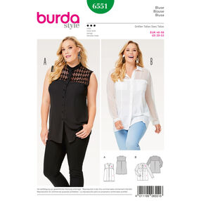 Burda Style Pattern B6551 Women's Collar Blouse
