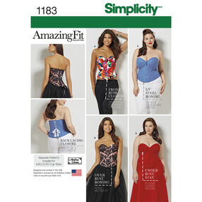 Simplicity Pattern 1183 Misses' and Plus Size Corsets