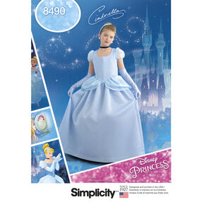 Simplicity Pattern 8490 Child's and Girl's Cinderella Costume