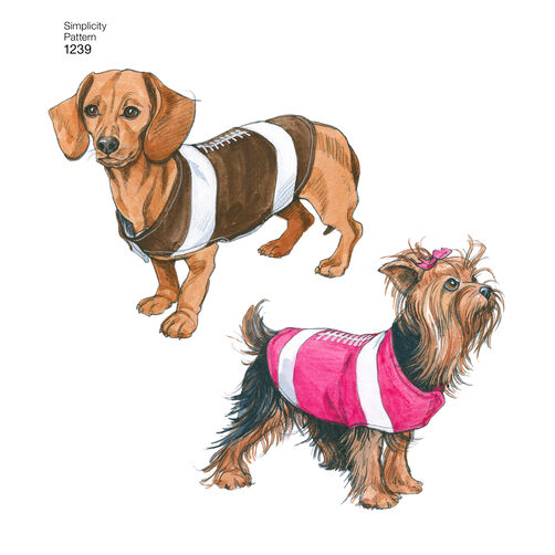 Pattern for dog coats in three sizes simplicity for Dog coat template