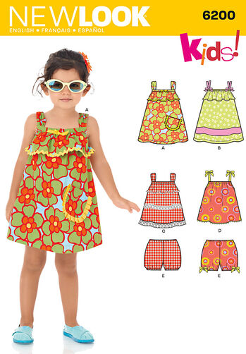 Toddlers' Dress, Top & Bloomers