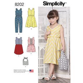 Pattern 8202 Children's Jumpsuits, Dresses and Bag