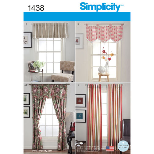 Simplicity Pattern 1438 Window Treatments