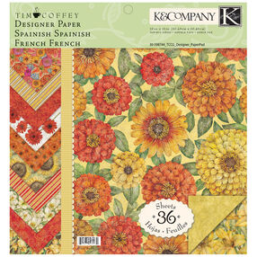 Tim Coffey Cottage Garden 12x12 Designer Paper Pad_30-598744