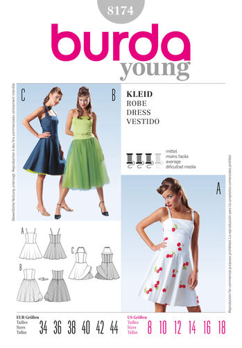 Burda Style Pattern 8174 Dress