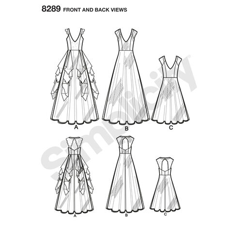 Simplicity Pattern 8289 Misses' Special Occasion Dresses