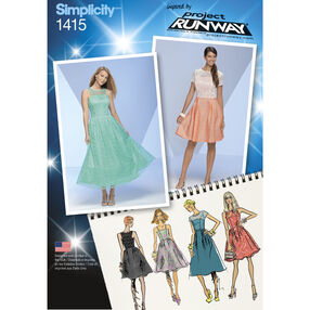 Simplicity Pattern 1415 Misses' Project Runway Special Occasion Dresses