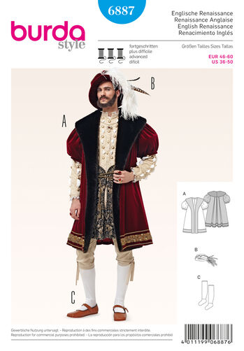 Burda Style Pattern 6887 Historical Costumes