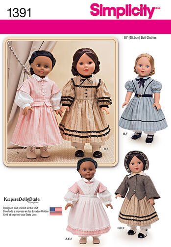"Civil War Doll Costume for 18"" Doll"