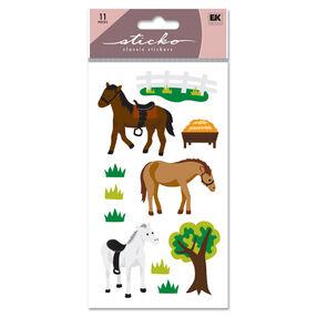 Horse Glitter Classic Stickers_SPLFB23