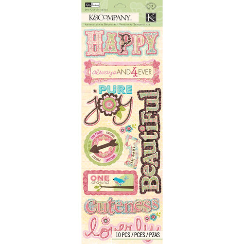 Kelly Panacci Blossom Word Adhesive Chipboard_30-663763