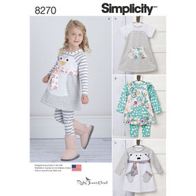 Simplicity Pattern 8270 Toddlers' Knit Sportswear from Ruby Jean's Closet