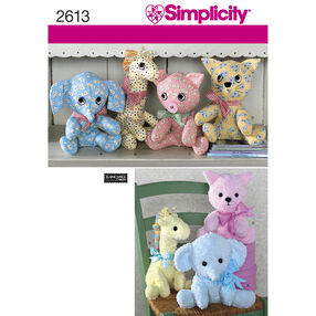 Simplicity Pattern 2613 Crafts: Stuffed Animals