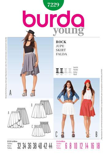 Burda Style Pattern 7229 Skirt