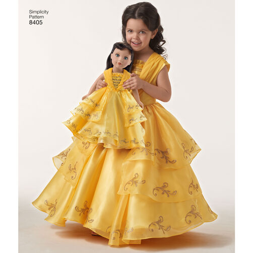 Simplicity Pattern Ea840501 Child And 18 Quot Doll Disney Live