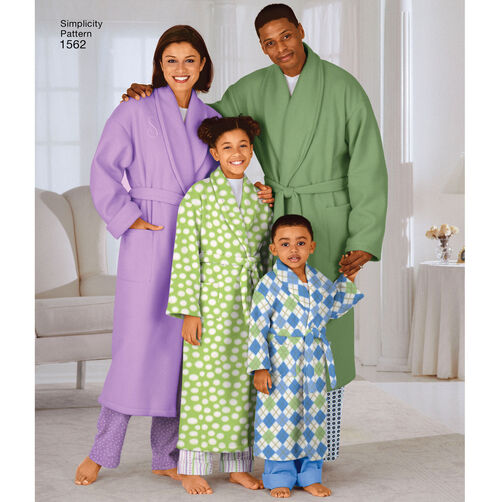 Children S Teens: Pattern For Child's, Teens' And Adults' Robe And Belt