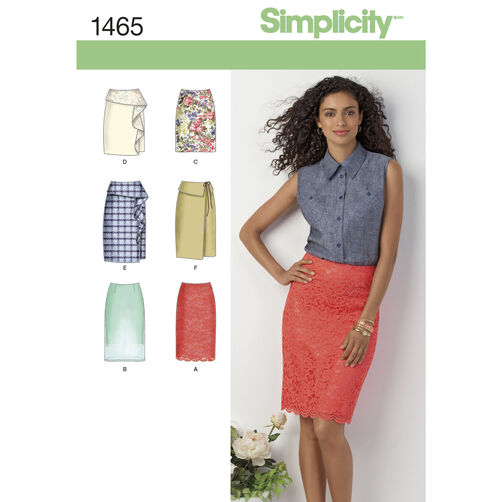 Simplicity Pattern 1465 Misses' Slim Skirt in Two Lengths