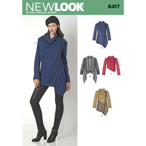 New Look Pattern 6417 Misses' Draped Jacket