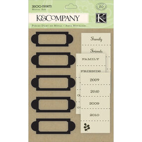 Eco Modern Label Holders Metal Art_30-137820