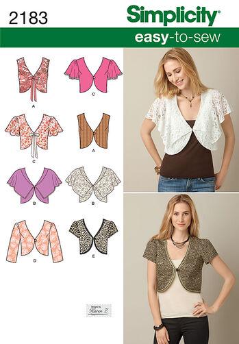 Misses' Easy to Sew Vest or Jacket