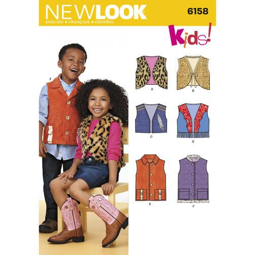 New Look Pattern 6158 Child's Vests