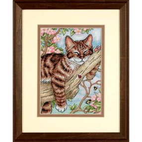 Napping Kitten, Counted Cross Stitch_65090