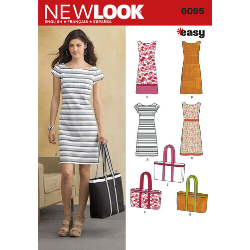New Look Pattern 6095 Misses' Dresses