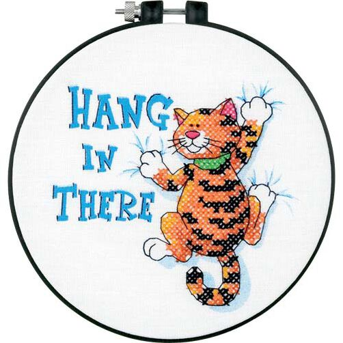 Hang in There, Stamped Cross Stitch_73062