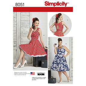 Simplicity Pattern 8051 Misses and Plus Size Dresses