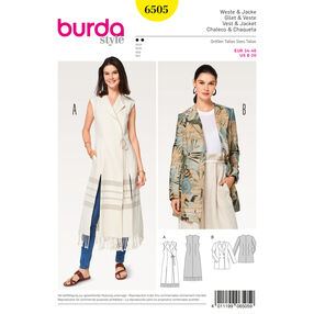Burda Style Pattern B6505 Misses' Jacket