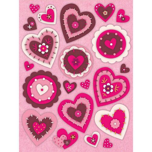 Smitten Heart Felt Stickers_594111