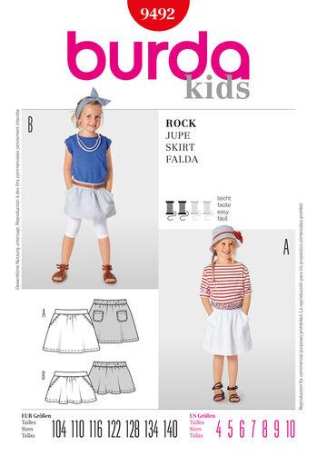 Burda Style Pattern 9492 Skirt