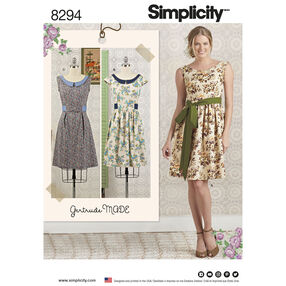 Simplicity Pattern 8294 Misses'/Petite Dress and Sash